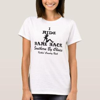 SBC Iの乗車の裸の背部 Tシャツ