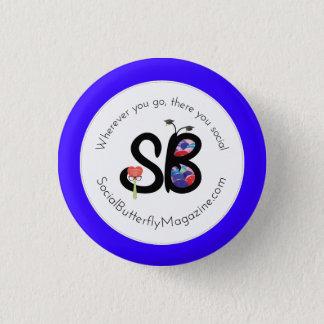SBMのパパ及び卒業生のロゴ小型ボタンPin 3.2cm 丸型バッジ
