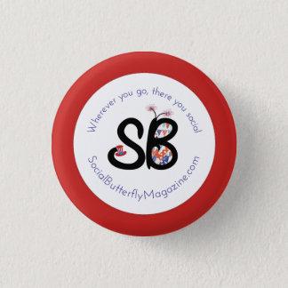 SBMの愛国心が強いロゴ小型ボタンPin 3.2cm 丸型バッジ