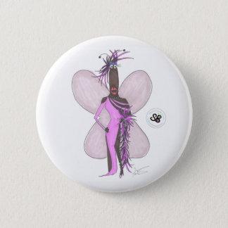 SBMの擬似有名人のパステル調の紫色の羽のファッションPin 5.7cm 丸型バッジ