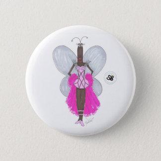 SBMの擬似有名人のパステル調ピンクのGeoのファッションボタン 5.7cm 丸型バッジ
