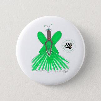 SBMの擬似有名人の緑のBallgownのファッションボタンPin 5.7cm 丸型バッジ