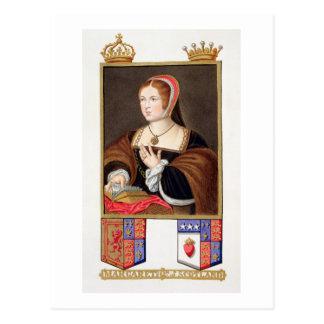 ScのマルグレットTudorの(1489-1541年の)女王のポートレート ポストカード