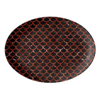 SCA1 BK-RDの大理石 磁器大皿