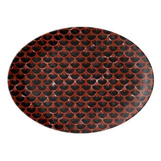 SCA3 BK-RDの大理石 磁器大皿
