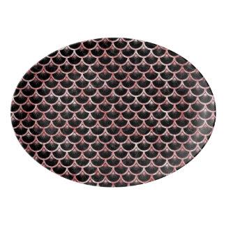 SCA3 BK-RWの大理石 磁器大皿