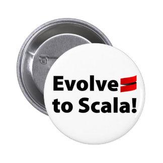 Scalaボタンは、ロゴを展開させます 5.7cm 丸型バッジ