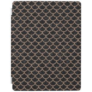 SCALES1黒い大理石及びブラウンによって着色される鉛筆 iPadスマートカバー