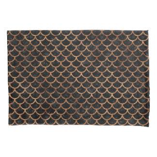 SCALES1黒い大理石及びブラウンの石 枕カバー