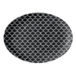 SCALES1黒い大理石及び灰色の大理石 磁器大皿