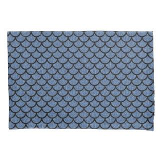 SCALES1黒い大理石及び青いデニム(R) 枕カバー