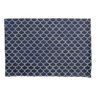 SCALES1黒い大理石及び青い水彩画 枕カバー
