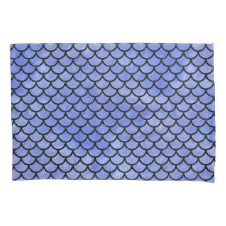 SCALES1黒い大理石及び青い水彩画(R) 枕カバー