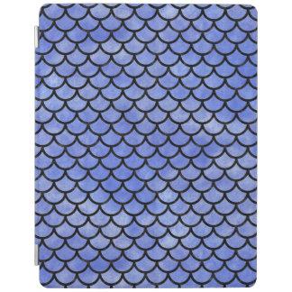 SCALES1黒い大理石及び青い水彩画(R) iPadスマートカバー