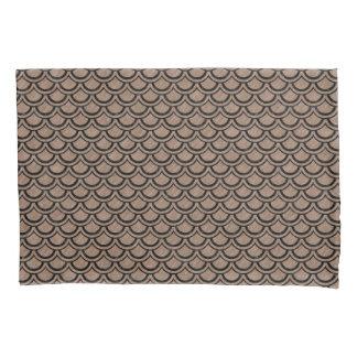 SCALES2黒い大理石及びブラウンは鉛筆(R)を着色しました 枕カバー