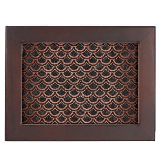 SCALES2黒い大理石及び銅によってブラシをかけられる金属 ジュエリーボックス