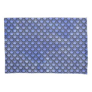 SCALES2黒い大理石及び青い水彩画(R) 枕カバー