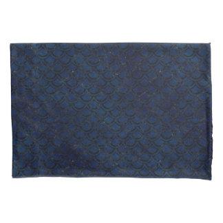 SCALES2黒い大理石及び青くグランジな(R) 枕カバー