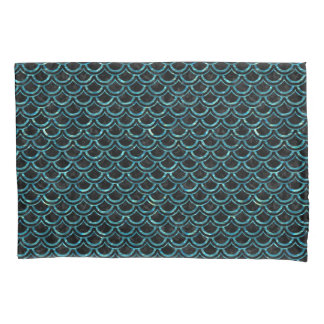 SCALES2黒い大理石及び青緑色水 枕カバー