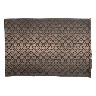 SCALES2黒い大理石及び青銅の金属(R) 枕カバー