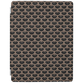 SCALES3黒い大理石及びブラウンによって着色される鉛筆 iPadスマートカバー