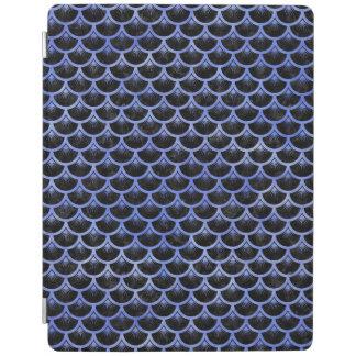 SCALES3黒い大理石及び青い水彩画 iPadスマートカバー