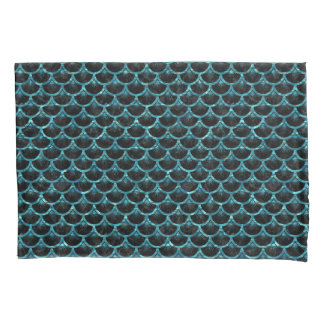 SCALES3黒い大理石及び青緑色水 枕カバー