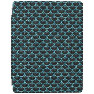 SCALES3黒い大理石及び青緑色水 iPadスマートカバー