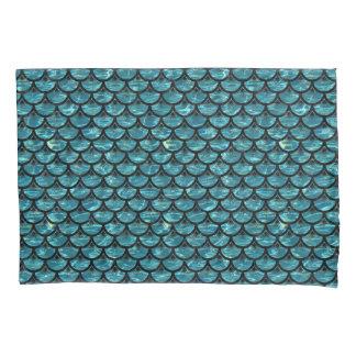 SCALES3黒い大理石及び青緑色水(R) 枕カバー