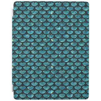SCALES3黒い大理石及び青緑色水(R) iPadスマートカバー