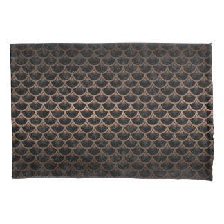 SCALES3黒い大理石及び青銅の金属 枕カバー