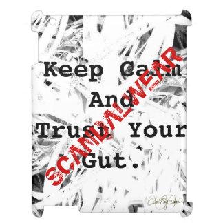 Scandalwear® (平静を保ち、あなたの腸を信頼して下さい) iPadケース