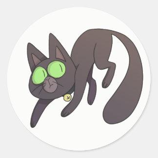 Scardey猫のステッカー ラウンドシール