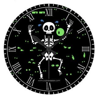 Scaredy骨(気味悪い目) ラージ壁時計