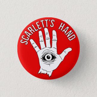 Scarlettの手円形ボタンの赤 3.2cm 丸型バッジ