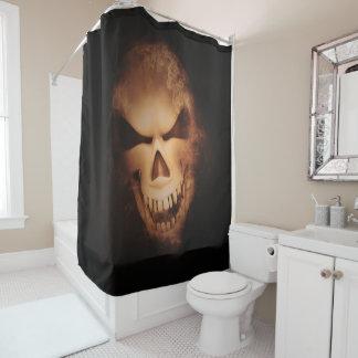 Scary Creepy Skull Halloween Shower Curtain シャワーカーテン