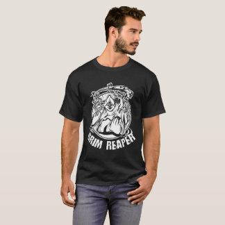 Scary Grim Reaper Halloween Illustration Tシャツ