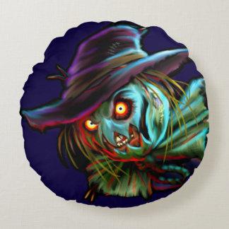 Scarycrowのかかしの円形の枕 ラウンドクッション
