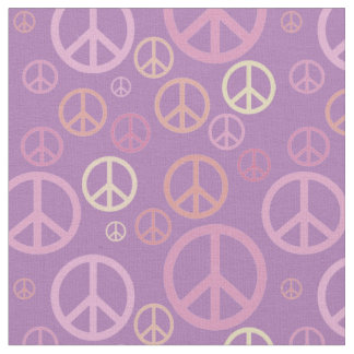 Scattered Peace Signs Pastels SPST ファブリック