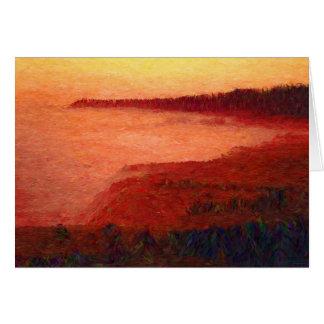 Scenics -写真-日没の@アイルランド人のビーチ カード