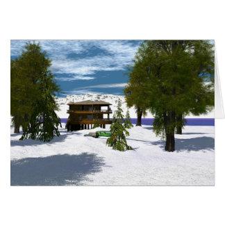 Scenics -冬-居心地のよい小屋 カード