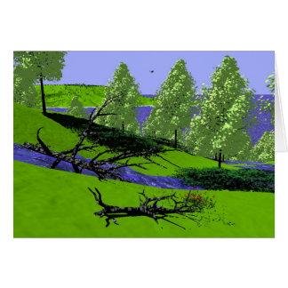 Scenics -海岸-ふもとの小丘の流れ カード