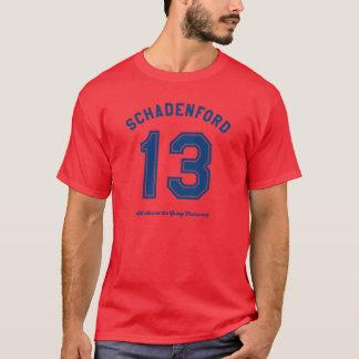 Schadenford 「13のグレービーのTrainwreckの学校代表の人のティー Tシャツ