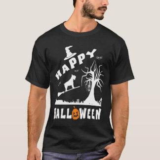 SCHAUZERのハッピーハローウィンの愛犬家のギフト Tシャツ