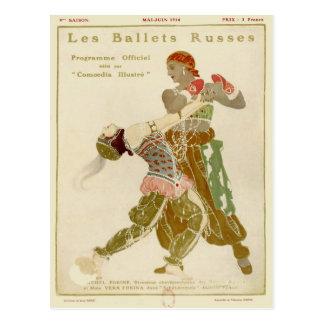 Schéhérazade、Léon Bakst及びバレエRusses ポストカード