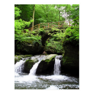 Schiessentümpelの滝の谷Ernzルクセンブルク ポストカード