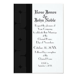 Schizmの黒檀(木炭)の結婚式招待状 カード