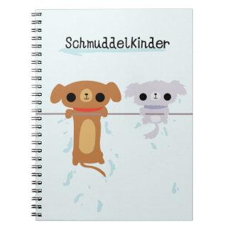 Schmuddelkinderのぬれた子犬のノート ノートブック