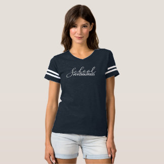 School Psychologist's Fancy Football Shirt Tシャツ