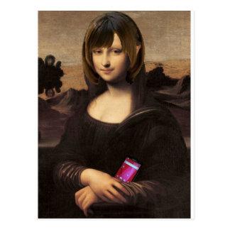 Schoolgirl style Mona Lisa ポストカード